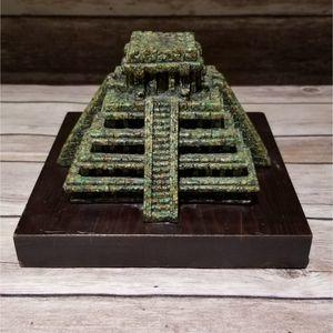 Vtg malachite Aztec step pyramid temple Arte-Mex